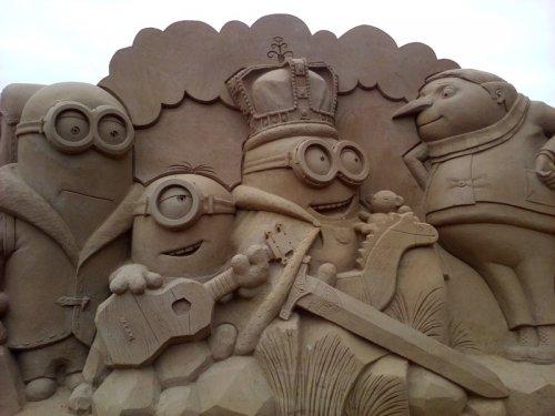 Песчаные скульптуры на фестивале в Санкт-Петербурге (28 фото)