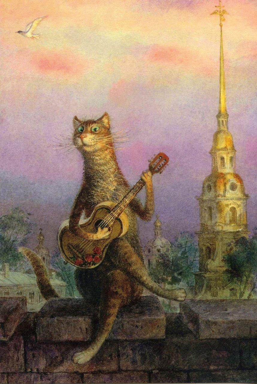Рисунки котов петербург