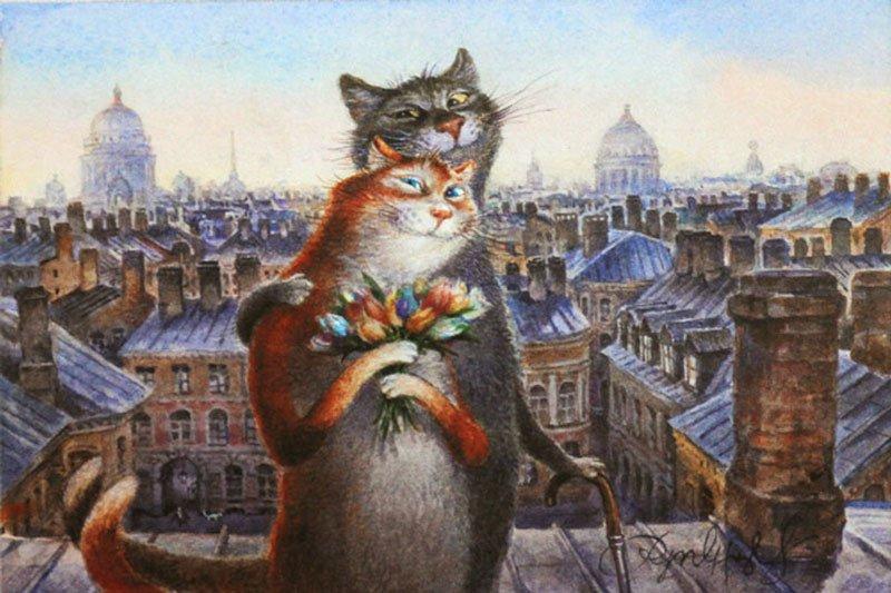 Художник из питера рисующий котов