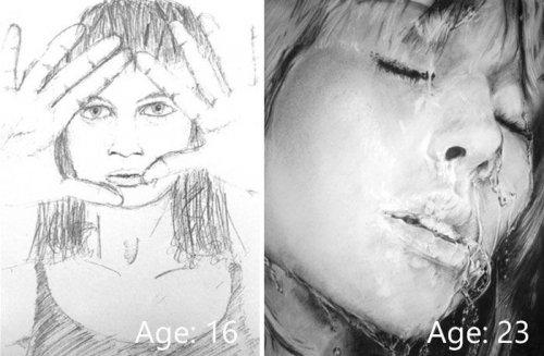 """Рисунки """"тогда и сейчас"""" (21 фото)"""