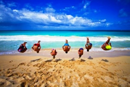 Прикольные пляжные фото (20 шт)