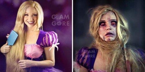 Судьба диснеевских принцесс и поп-икон глазами визажиста-самоучки Майки (11 фото)