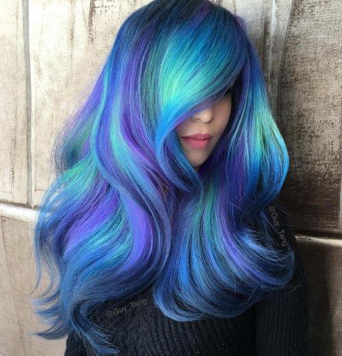 Девушки с цветными волосами фото