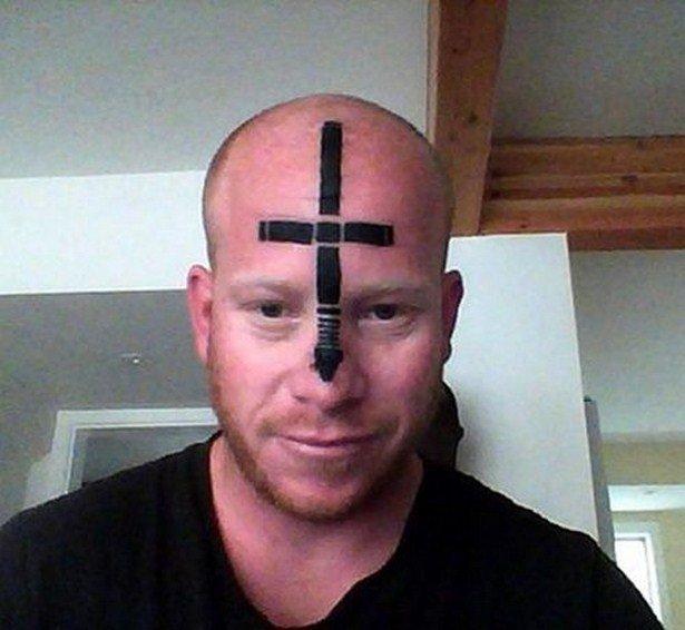 фото тату крест на голове все