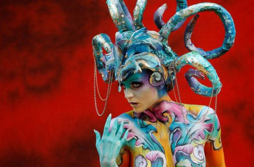 В Австрии прошёл Всемирный фестиваль бодиарта (27 фото)