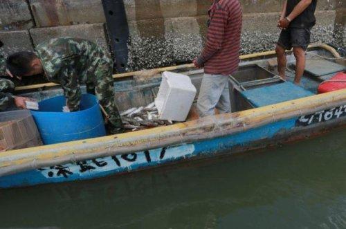 Необычный улов китайских рыбаков (4 фото)
