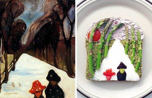 Креативный дизайн еды от Иды Скивенес, вдохновлённый известными картинами (11 фото)