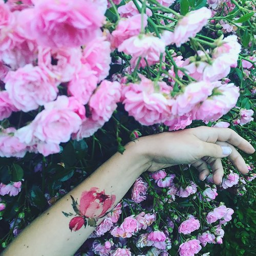 Цветочные татуировки от Pis Saro (30 фото)