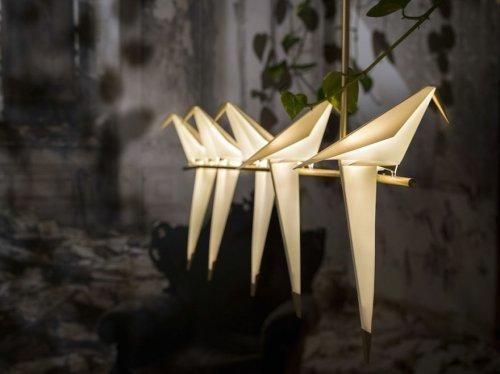 Лампы-птицы в виде оригами от Умута Ямаджа (5 фото)