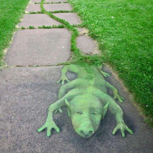 Забавные уличные рисунки Дэвида Зинна (19 фото)