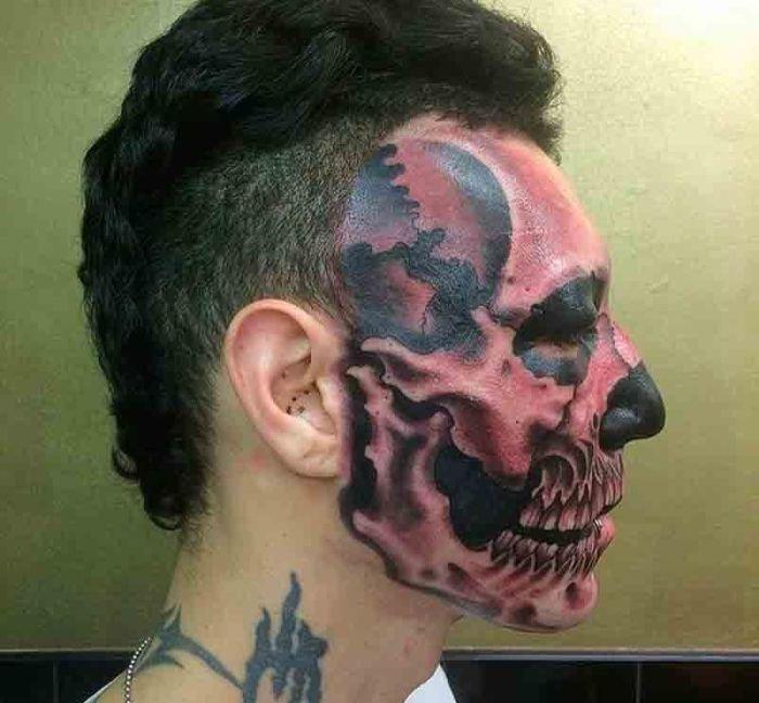 Татуировки с лицами, которые можно было не делать (29 фото) | 648x700