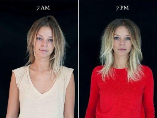 Как меняется внешность человека в течение дня (10 фото)