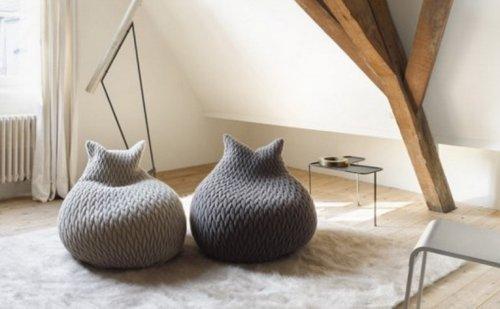 Необычный и прикольный дизайн пуфиков (10 фото)