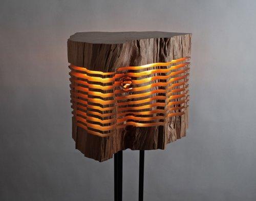 Деревянные светильники от Пола Фёклера (8 фото)