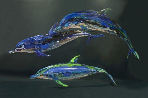 Скульптуры животных из использованного пластика, которые создаёт Саяка Ганц (10 фото)