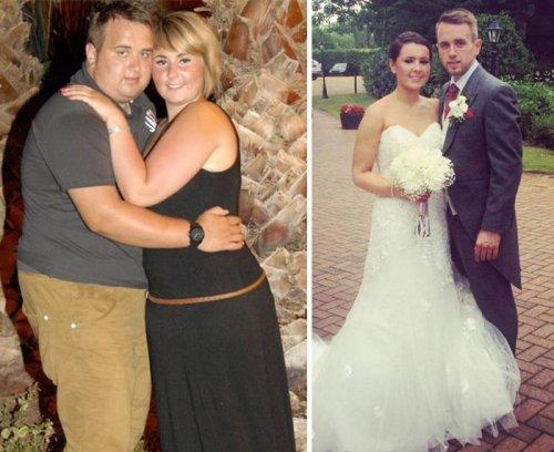 Связанные одной целью: пары до и после похудения (29 фото)