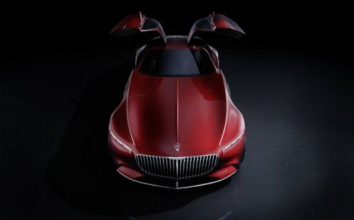 Концепт роскошного электромобиля Vision Mercedes Maybach 6 (9 фото)