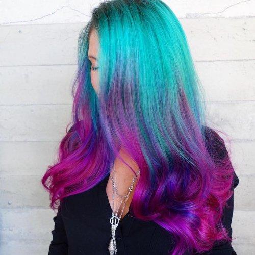 Новый модный тренд: волосы русалки (17 фото)