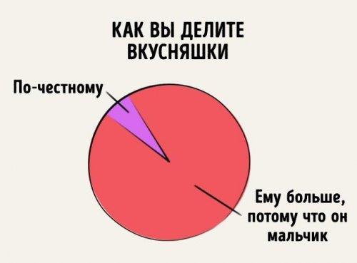 Забавная инфографика про отношения братьев и сестёр (12 фото)