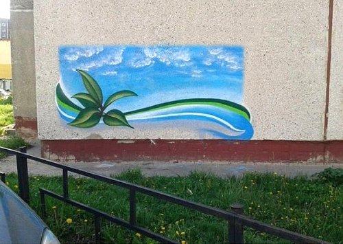 Необычный стрит-арт липецкого художника Алексея Чеснокова (6 фото)