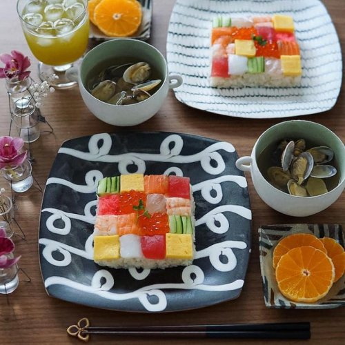 Суши-мозаика, набирающая популярность в Японии (12 фото + видео)