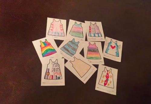 Платья, сшитые по рисункам детей (7 фото)