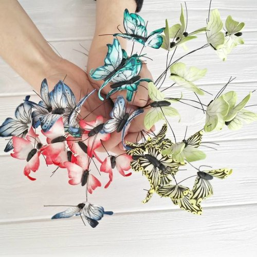 Оригинальные аксессуары от Ирины Осинчук-Чайки: бабочки в волосах (10 фото)