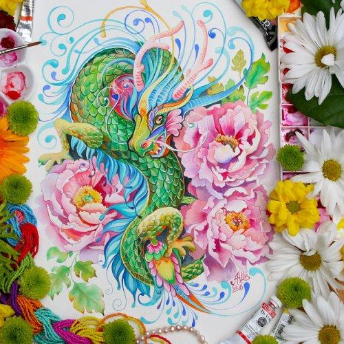12 животных китайского лунного календаря в работах Анны Буккьярелли (12 фото)