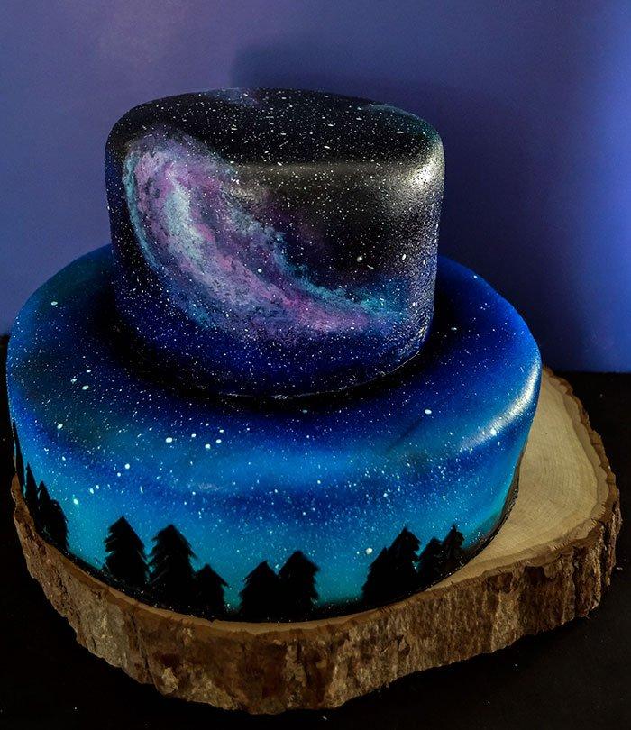 Как сделать космос торт 407