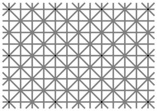 Оптическая иллюзия с 12-тью точками