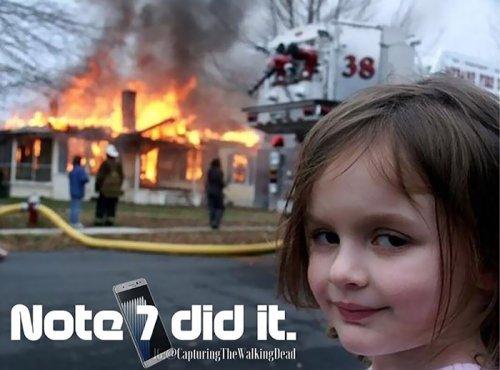 Реакция Интернета на взрывающиеся смартфоны Samsung Galaxy Note 7 (10 фото)