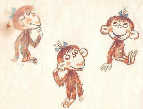 Как выглядели эскизы к знаменитым советским мультфильмам (64 фото)