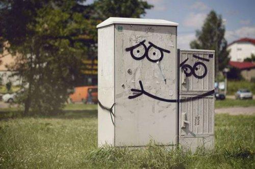 Забавный стрит-арт, поднимающий настроение (17 фото)