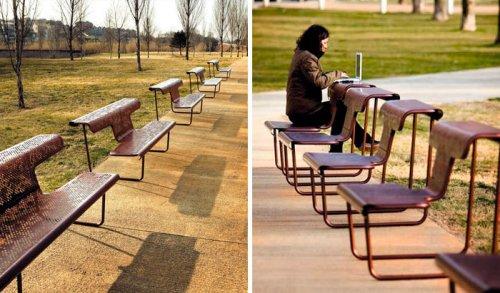 Самые креативные и необычные скамейки со всего мира (34 фото)