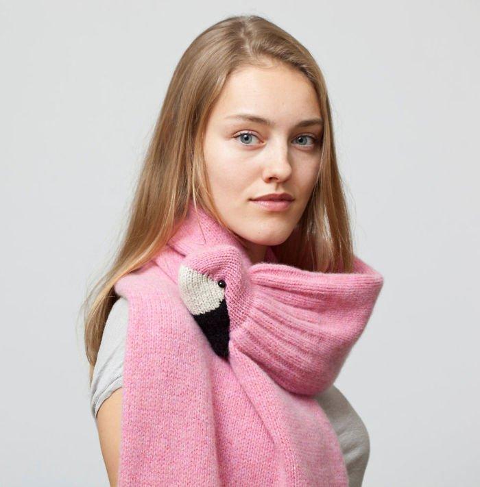 оригинальные вязаные шарфы которые кусаются 16 фото
