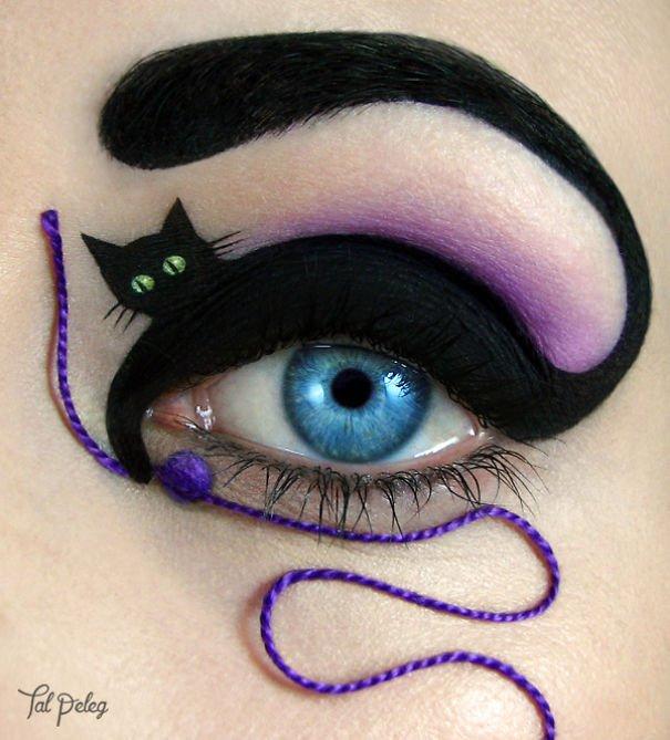 Как сделать кошачьи глазками