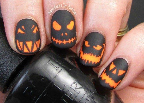 ногти на хэллоуин фото
