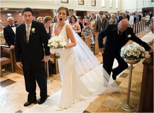 Свадебные фотоприколы (17 фото)