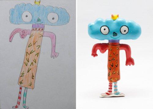 Детские рисунки, превратившиеся в игрушки с помощью 3D-принтера (10 фото)