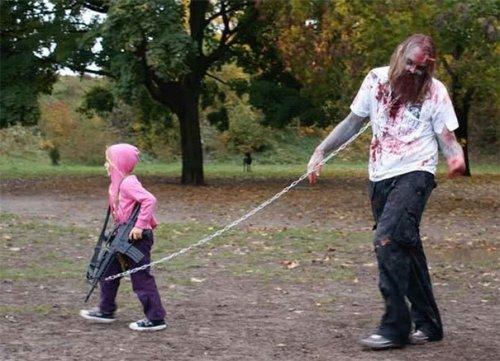 Парные костюмы на Хэллоуин для пап с дочками (21 фото)