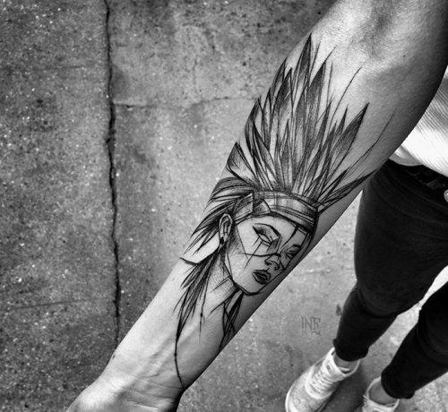 Татуировки в исполнении тату-мастера Инес Яняк (34 фото)