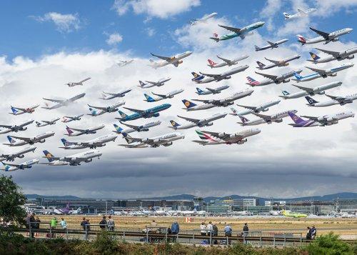 Воздушный трафик в потрясающих фотографиях Майка Келли (18 фото)