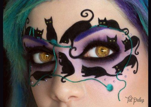 Хэллоуинский макияж глаз от Тал Пелег (13 фото)