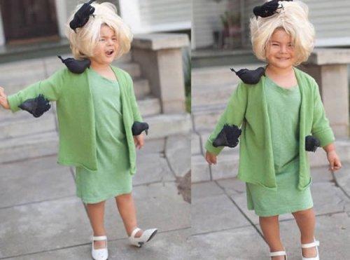 Родители и их очаровательные малыши, которые слишком серьёзно отнеслись к костюму на Хэллоуин (13 фото + видео)