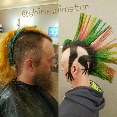 Необычные и причудливые стрижки и причёски (15 фото)