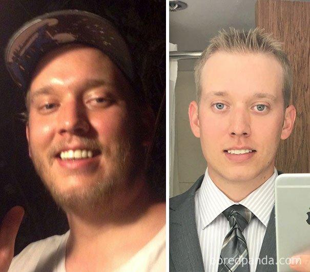 Сравнительные фотографии людей до и после того, как они ...