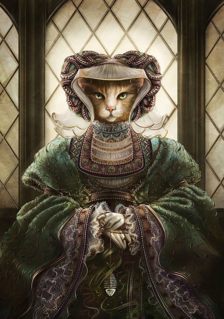 период королева кошка картинки рисунков, обучающее