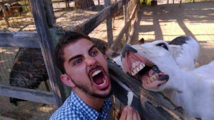 Man selfie funny