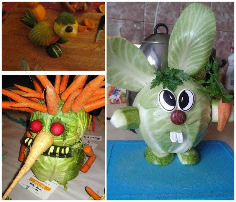 Креативные поделки из овощей своими руками