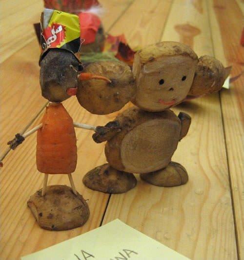 Фото поделки из овощей и фруктов для детского сада